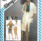 1980s Simplicity Wrap Fitted Skirt Raglan Sleeve Blouse Jacket Size 14 Vintage Sewing Pattern 6326