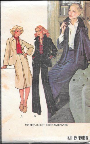 Mcall's 5850 Size 20 1970's Jacket Skirt Pants Suit Vintage Sewing Pattern