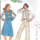 1970s Butterick Shirt Vest Skirt Pants Size 10 Vintage Sewing Pattern 5931