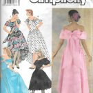 Simplicity Off Shoulder Princess Seamed Evening Gown Dress Size 4 6 8 10 Pattern 7059