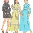 1970s Simplicity Ruffled Bodice Gathered Waist Maxi Dress Size 14 Sewing Pattern 5956