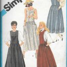 1980s Simplicity Dropped Waist Jumper Dress Size 14 Vintage Sewing Pattern 6479