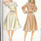 Butterick Yoked Bodice Elastic Waist Dress Sewing Pattern 3612