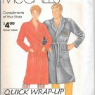 1980s McCalls Women Men Bath Robe Size S M L XL Vintage Sewing Pattern 0011