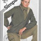 1980s Simplicity Zip Front Blouson Reversible Jacket Size 10 Vintage Sewing Pattern 9978
