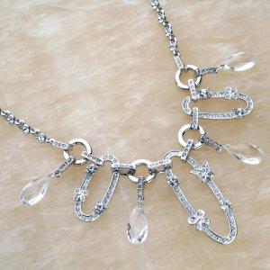 Necklace Pearl Crystal W/Earrings