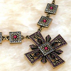 Necklace Cross Amethyst