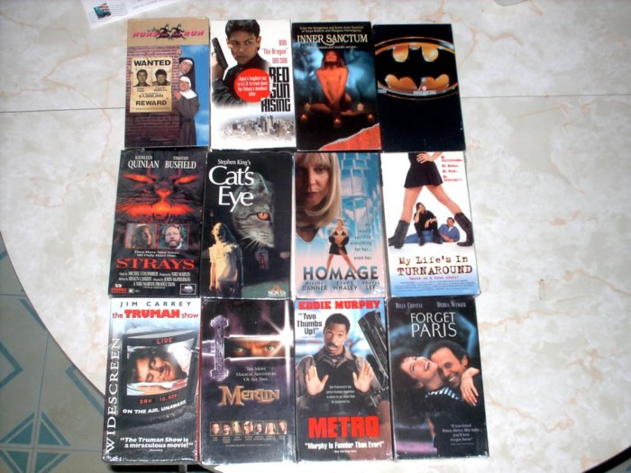 12 VHS LOT [B] ACTION DRAMA +MORE - NEW +FREE SHIPPING!