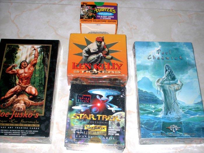 JUSKO, CHADWICK, KELLY, STAR TREK BOX LOT + BONUS!!!