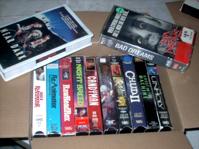 Used VHS Lot [1] 12 Great HORROR Tapes+ SHIPS FREE!