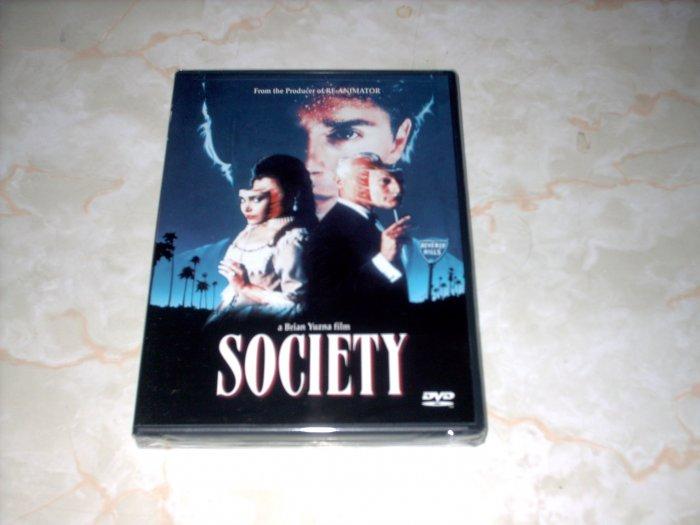 SOCIETY - BIZARRE + COOL MOVIE! - NEW SEALED DVD + SHIPS FREE
