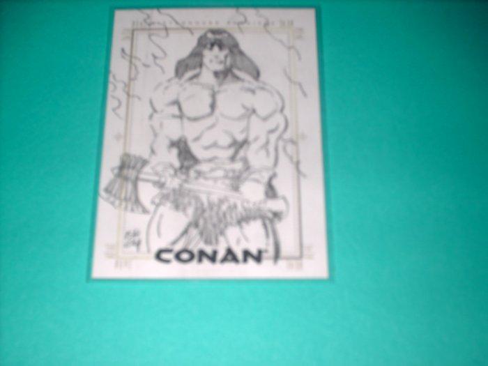 CONAN HYBORIAN AGE SKETCHAFEX CARD BY ISHERWOOD