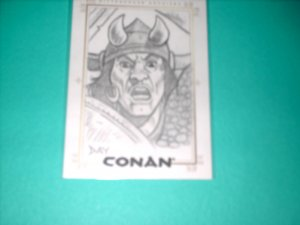 CONAN HYBORIAN AGE SKETCHAFEX CARD BY DAVID DAY
