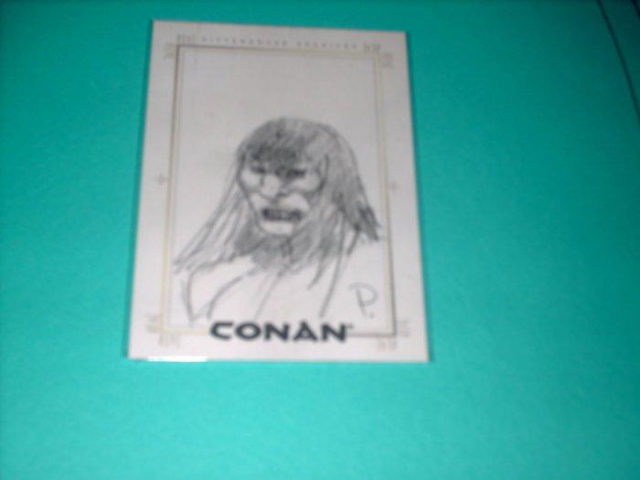 CONAN HYBORIAN AGE SKETCHAFEX CARD BY PENNINGTON