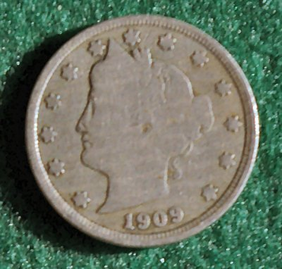 1909 Liberty head V nickel