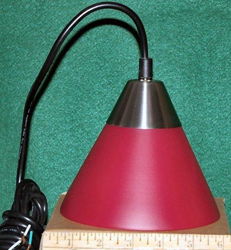 Red dome-shaped pendulum light