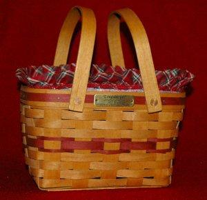 Longaberger 1992 Christmas Collection Seasons Greetings Basket Combo