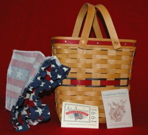 Retired 1991 CLASSIC  All-American Series Two-Quart Basket Combo
