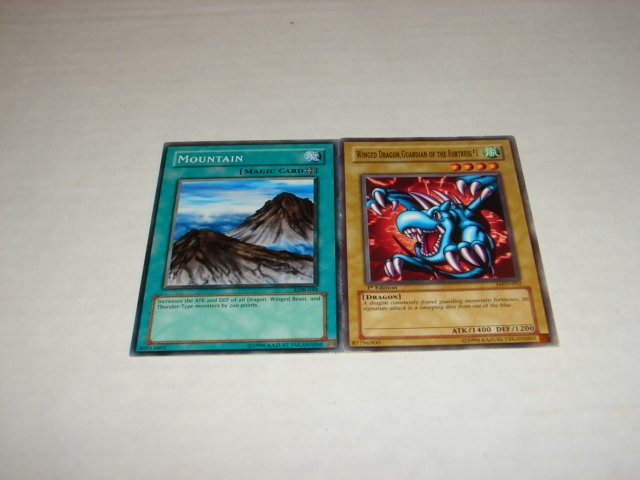Yu-Gi-Oh cards Mountain and Winged Dragon, Guardian of the Fortress #1