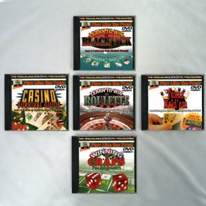 Lot of 5 Gamble DVD's Texas Hold em Poker Blackjack Roulette CRAPS Gambling DVDs