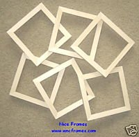 "6 UNFINISHED 5X5 WOOD PICTURE FRAMES 5/8"" wide"
