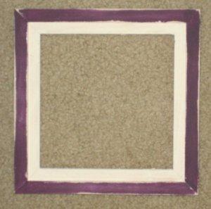 6X6 Faux Double picture frame purple & white