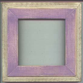 5X5 Montana style picture frame lavender & white