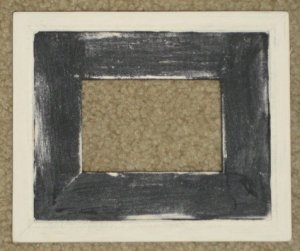 ACEO HAND MADE WOOD PICTURE FRAME 2½X3½ BLACK/WHITE