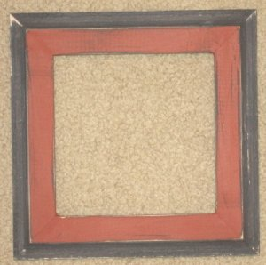 8X8 Faux Double picture frame barn red & black