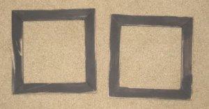 2 primitive 6x6 frames in black - NEW