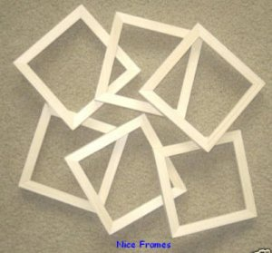 """LOT of  6 UNFINISHED 6X6 WOOD PICTURE FRAMES 5/8"""" wide"""