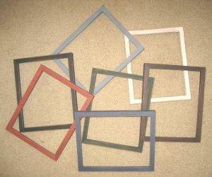 6 PRIMITIVE 8x10 PICTURE FRAMES NEW YOU PICK COLORS