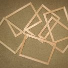 "6 UNFINISHED 5X7 PICTURE FRAMES NARROW ½"" MOLDING NO KNOTS"