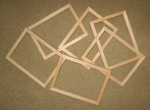 """6 UNFINISHED 5X7 PICTURE FRAMES NARROW ½"""" MOLDING NO KNOTS"""