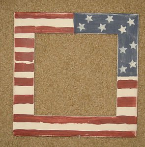 Flag picture frame