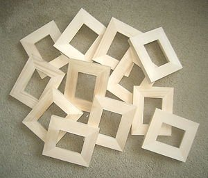 ACEO (wallet size) picture frames (12) Unfinished 2½x3½