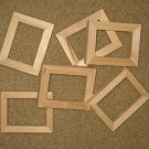 6  unfinished ACEO sized 2½x3½ wood picture frames (my no. 72813b)