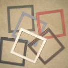 6 - 6x6's  - 6 different colors Primitive picture frames