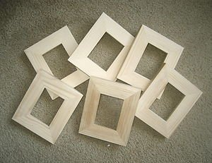 ACEO (wallet size) picture frames (6) Unfinished 2½x3½