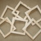 "6 unfinished 5x5 wood picture frames in a 1"" wide rough cut moulding"