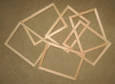 """6 UNFINISHED 5X7 PICTURE FRAMES QUALITY VERY NARROW ½"""" MOLDING NO KNOTS"""