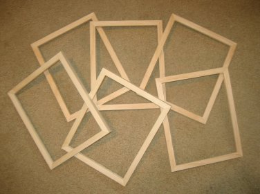 """Picture frames 6 unfinished 8x10 or 8x8's in a 5/8"""" wide moulding"""