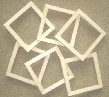 """Picture frames 6 unfinished 4x4's in a 5/8"""" wide moulding"""