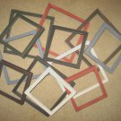 Primitive picture frames - 12 - 6x6's & 8x8's - 6 each - 6 different colors