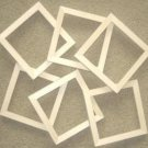 "Unfinishe picture frames six 6x6's in a 5/8"" wide moulding"