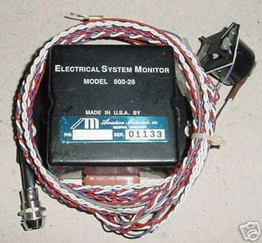 NEW!! 28V Aircraft Electrical System Monitor, 800-28