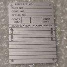 AN7510-2, New Aircraft Name Plate, Dataplate