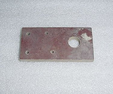 """Aircraft Control Cable Phenolic Block Guide, 3"""""""" X 1 1/2"""""""" X 1/4"""""""""""