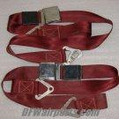 9650-2, PSA-1001, Set of Beech Aircraft Seat Belts Maroon color