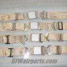 501301-401-2270, 9600-16, Set of Aircraft Seat Belts / Cream